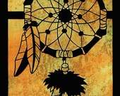 "DREAM CATCHER - Original Paper Cutting - 8x10"" - Your Color CHOICES"