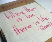 """Screen Printed Patch """"Where There is Love"""""""