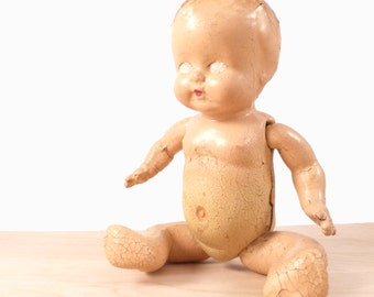 Creepy Crackled Baby Doll