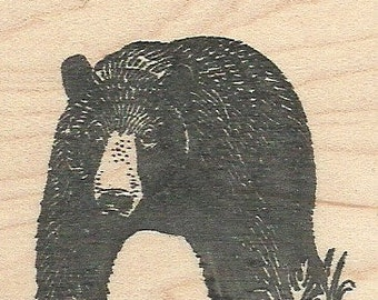 Black Bear - Wood Mounted Rubber Stamp