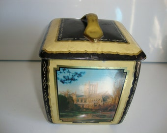 Vintage Candy Tin,  Edward Sharp Toffee Candy Tin, English Cathedrals