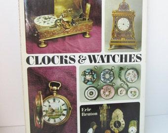Vintage 1968 Book Clocks & Watches by Eric Bruton