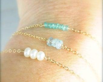 Dainty Gemstone Everyday Bracelets, Dainty Gemstone Bridesmaid Thank You Gifts, Wedding Party Gift Ideas, Bracelet Bridal Gift Ideas
