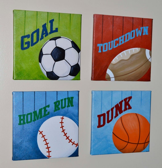 Sports Wall Art, Print, Original Painting, Canvas Wall Art
