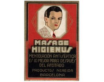 Vintage Masage Higienus Perfume Label