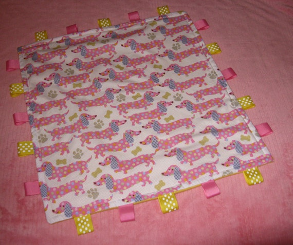 Baby   Blanket Dachshund  Cuddle Security  Snuggle   Sensory Lovie Lovey
