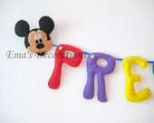 Mickey Mouse Birthday Banner, Boy Room Garland