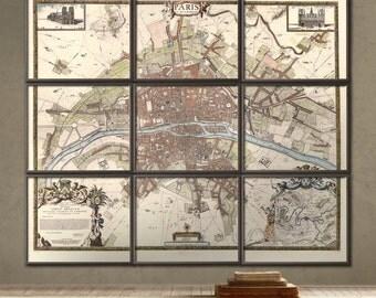 Paris created in 1672 - Albert Jouvin de Rochefort