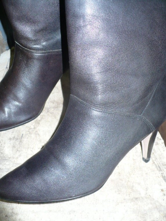 Gorgeous 80s 9 West Black Leather Pirate Boots Size 7.5 M by KitKatCabaret on Etsy