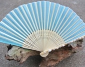 Beach Wedding Fan, Seashells Folding Fan, Bridesmaids Bouquets Alternative