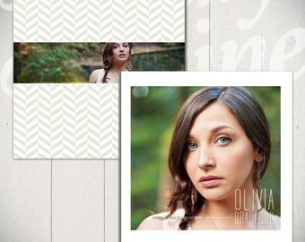 Senior Album Template: Looking Ahead - Graduation Book Template for Photographers 10 x 10