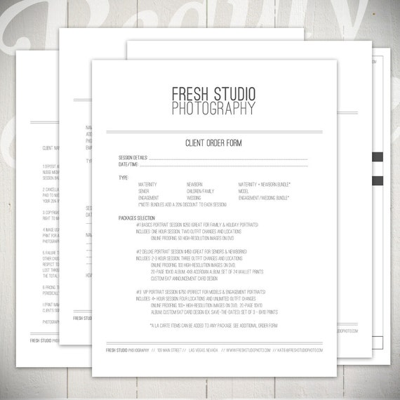Photography Marketing Templates: Fresh Studio Marketing Set