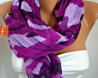 Purple Camouflage Scarf, Summer Shawl Cowl Scarf Shawl Scarf Lavender Gift Ideas For Her Women Fashion Accessories Teacher Gift