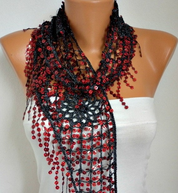 on sale sequin scarf floral shawl scarf
