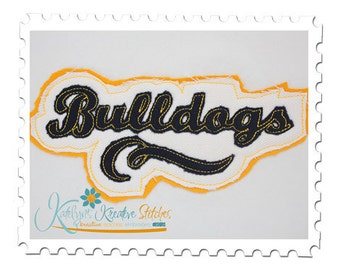 Bulldogs - Distressed Applique