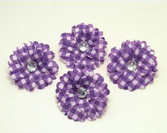 """Purple Gingham 2"""" Gerber Daisies (set of 4)was 1.80"""