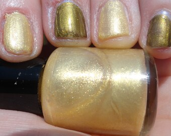 Last of the Time Lords Doctor Who Indie Franken Polish Glittering Gold Nail Polish