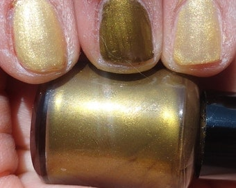 Bad Wolf Virus Doctor Who Indie Franken Nail Polish Sunset Gold Shimmer