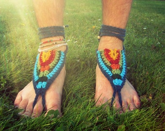 Barefoot Sandals - Summer Kaleidoscope - Earthing Grounding Sandals