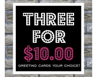 Three Cards for Ten Dollars
