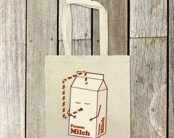 Breaks milk ', tote bag