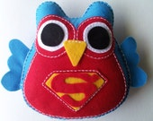 Fluffy Superman Owl