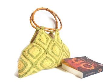 Mother's Day Gifts yellow,Green,Handbag,Shoulder ,,handbag,knit,crochet,gift,accessory,purse,clutch,purse,fashion,bag