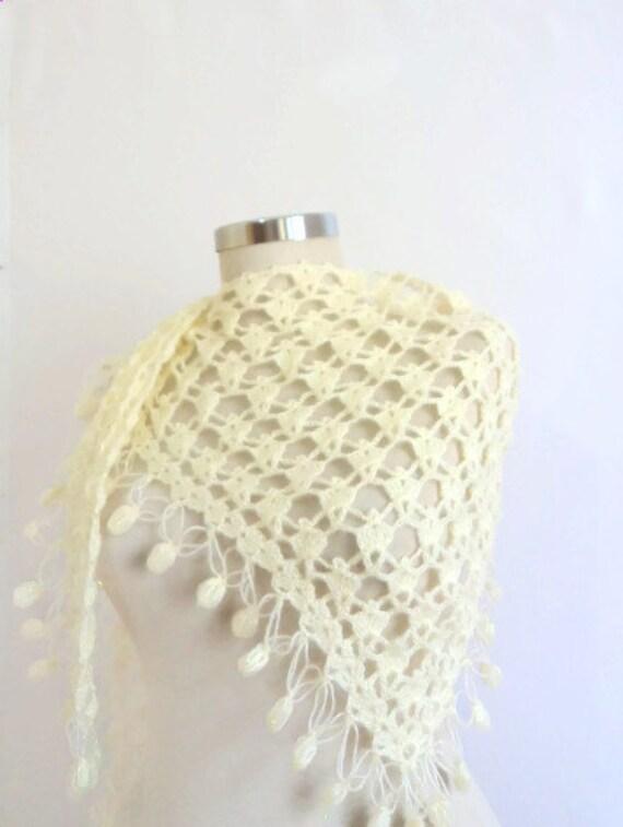 Reserved for (Irina Feshchenko) Ivory shawl, bonnet hot new knitting handmade