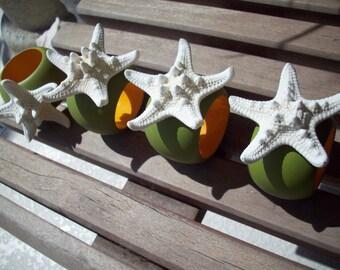 Starfish Napkin Rings, set of 4