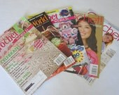 5 Crochet Magazines Amulet Purse Baby Play Mat Shawl Tunes Totes Patterns