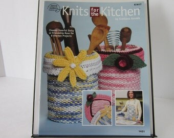 Knits for the Kitchen Knitting Patterns Knit Dishcloth Hot Pads Aprons