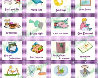 Chores List Clipart Keyring or chore chart.
