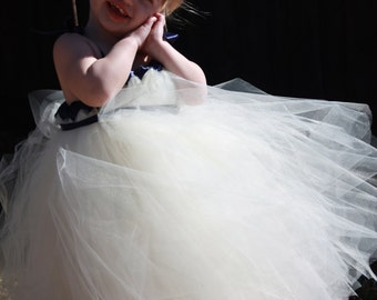CUSTOM TUTU DRESS - Flower Girl Dress - Special Occasion - Size 12m-5T