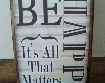 Be Happy Amazon Plank