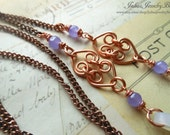 Eyeglass Chain, Copper, Lavender, Green, Red, Aqua, Purple, Customized, Any Color, Glasses