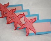 Star Fish Flower Food Tags Place Holder Set of 12 By Your Little Cupcake