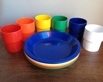 Vintage Ingrid Rainbow Picnic Set