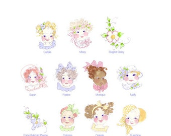Baby Face I Embroidery Design Collection - CD