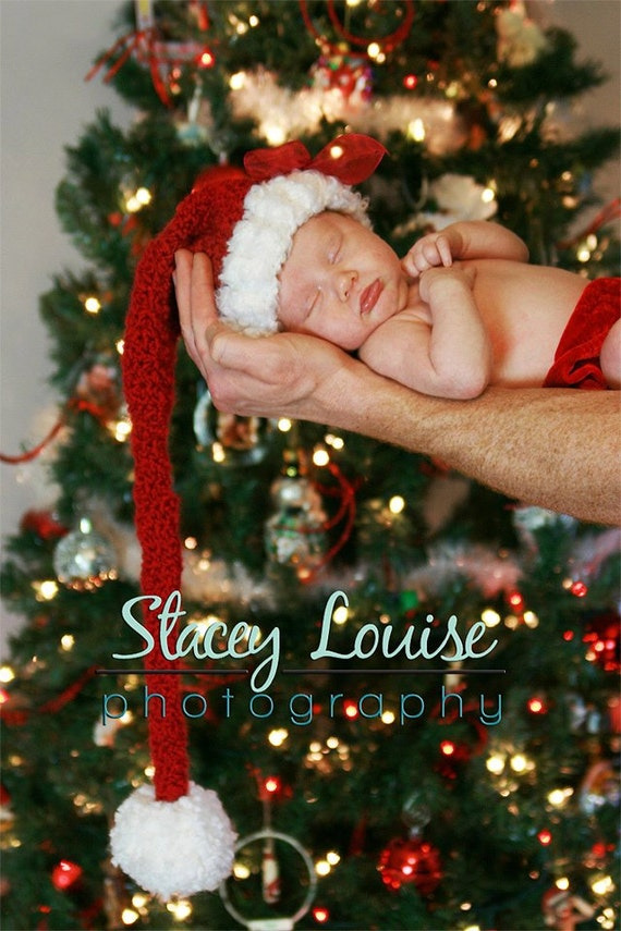 Elf hat- Stocking Hat- MADE to ORDER - newborn, toddler, teen or adult sized