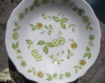 4 Petite Flora Ironstone Soup Bowls, 2 sets available