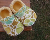 Baby Shoes for Girls with Neutral Colors -  Faux Bois and Floral Patterns - Custom Sizes 0-24 months by little house of colors