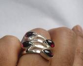 Pear shaped garnet Ring