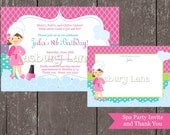 Spa Party Girls Collection-Invite and thank You-Casbury Lane