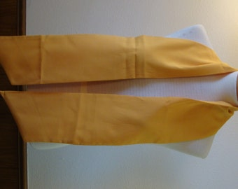 Vintage Mustard Yellow Necktie Scarf Cravat Tube Long V