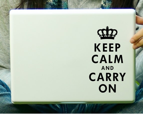 Keep Calm and Carry On Sticker Decal Laptop Decal iPad