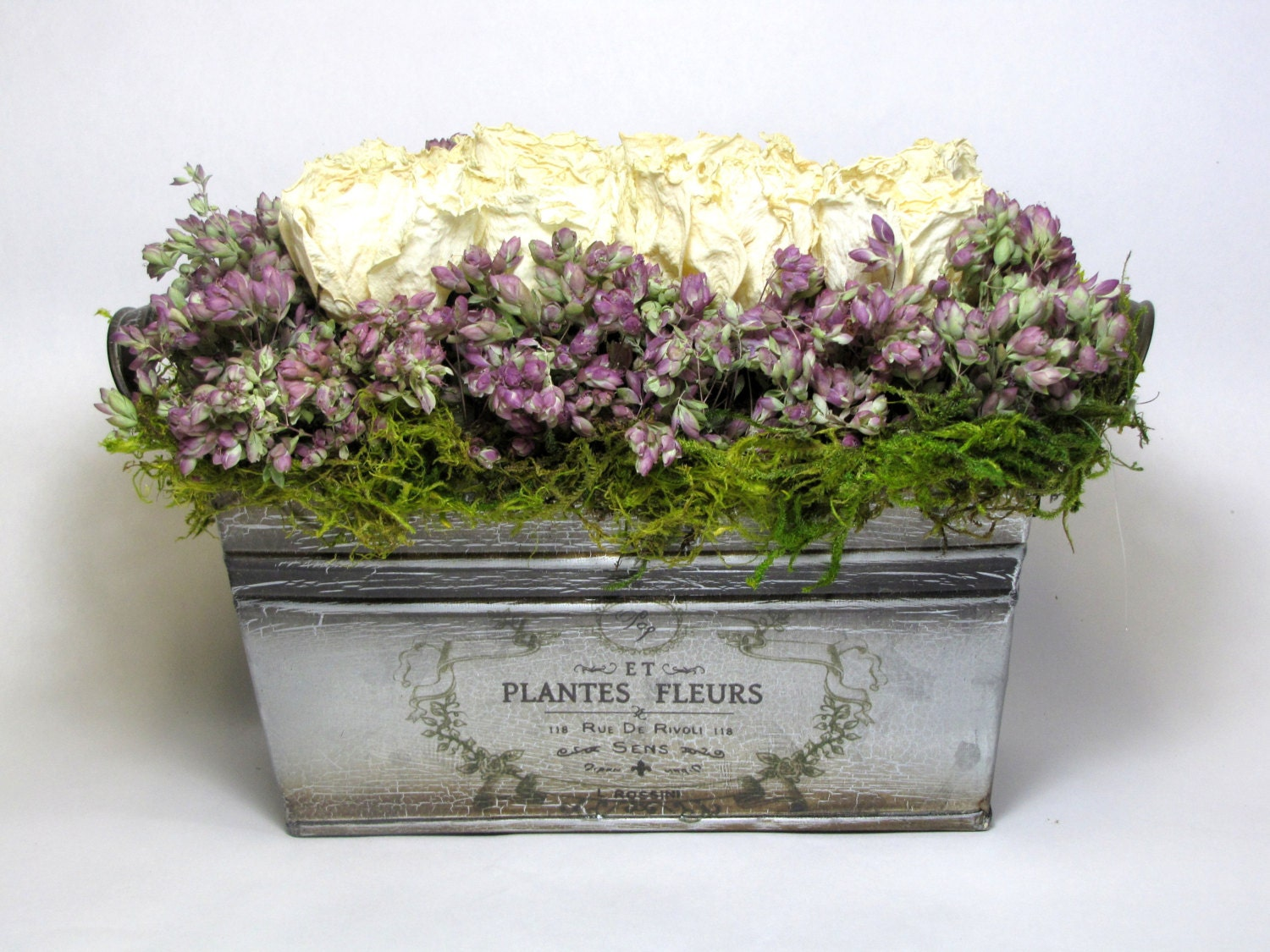 French Country Dried Floral Arrangement Contemporary
