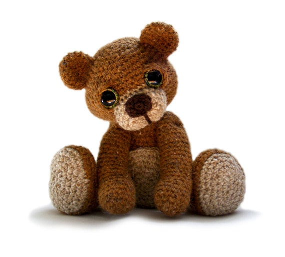 Free Teddy Bear Cowl Crochet Pattern : Teddy Bear Amigurumi Crochet Pattern PDF instant Download