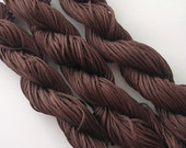 Coconut Brown  Braided Nylon Beading Cord Chinese Knot Cord 1mm.