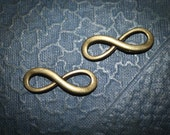 HALF OFF 12 Infinity symbol Charm Bronze  Unique Charm - Tim Holtz style Altered Art  finding-