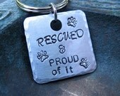 Rescued and Proud Pet ID Tag